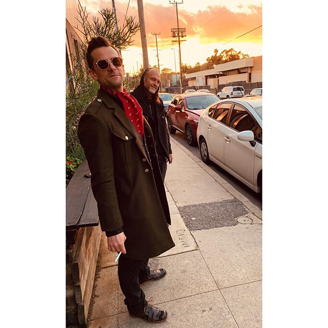Thanks @jonboyday for the sweet duds and exquisite styling for a Saturday night on the town! #ElmerAve #bestneighborever #LA 📷: @lilyverlaine