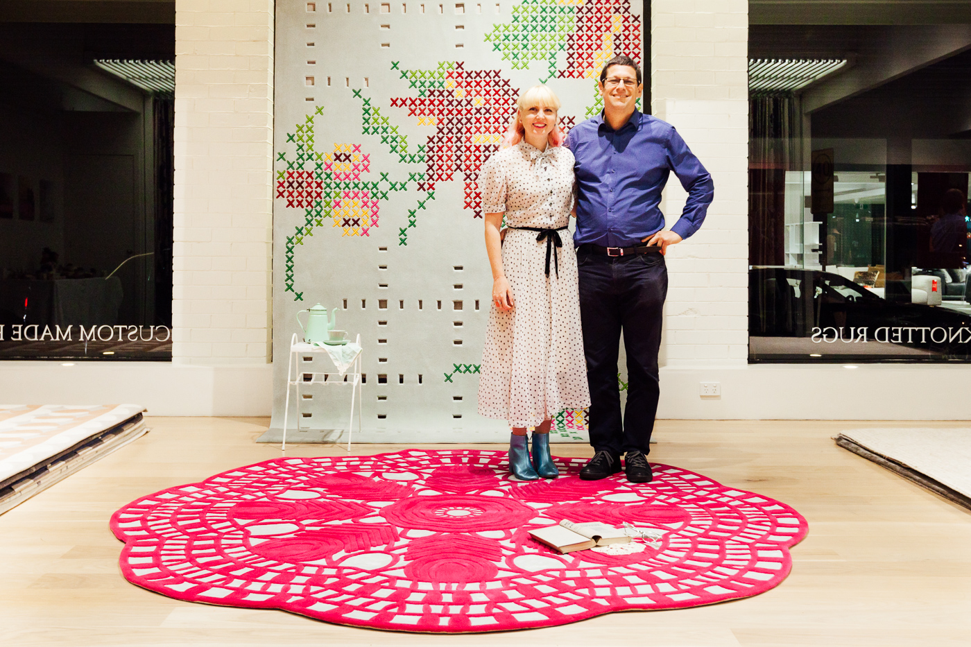 Petrina Turner and Yosi Tal of Designer Rugs |NEW AGAIN by Petrina Turner Design for Designer Rugs | The launch event