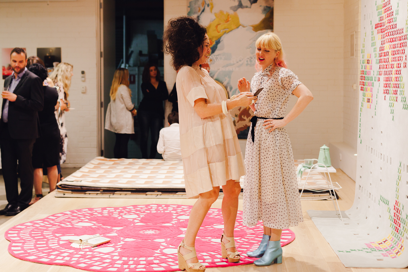 With Lynda Gardener | NEW AGAIN by Petrina Turner Design for Designer Rugs | The launch event