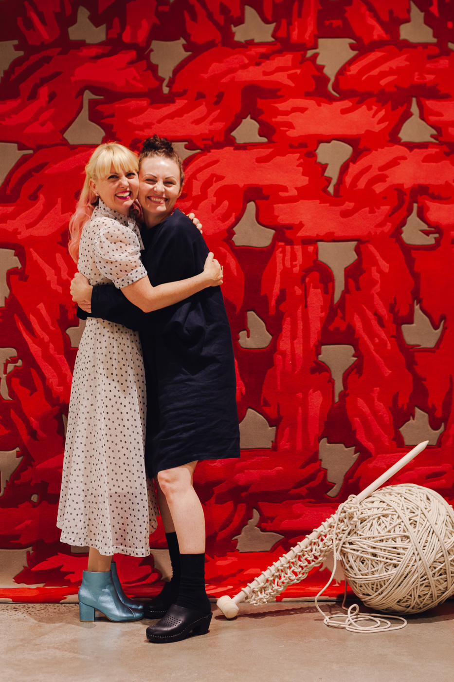 With über stylist Tamar Maynes | NEW AGAIN by Petrina Turner Design for Designer Rugs | The launch event