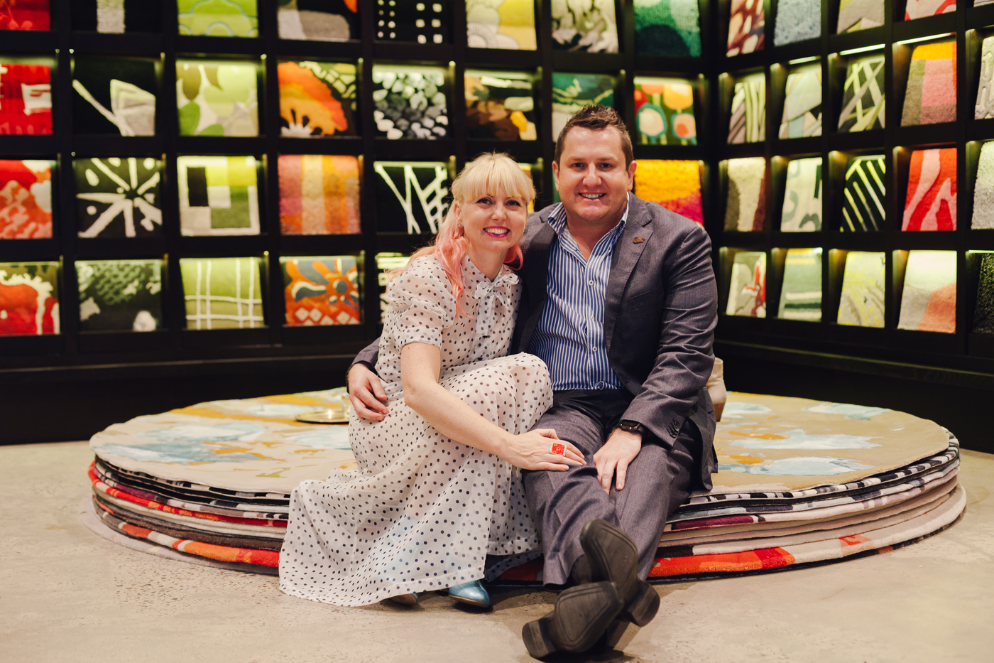 With Alan Oakenfull | NEW AGAIN by Petrina Turner Design for Designer Rugs | The launch event