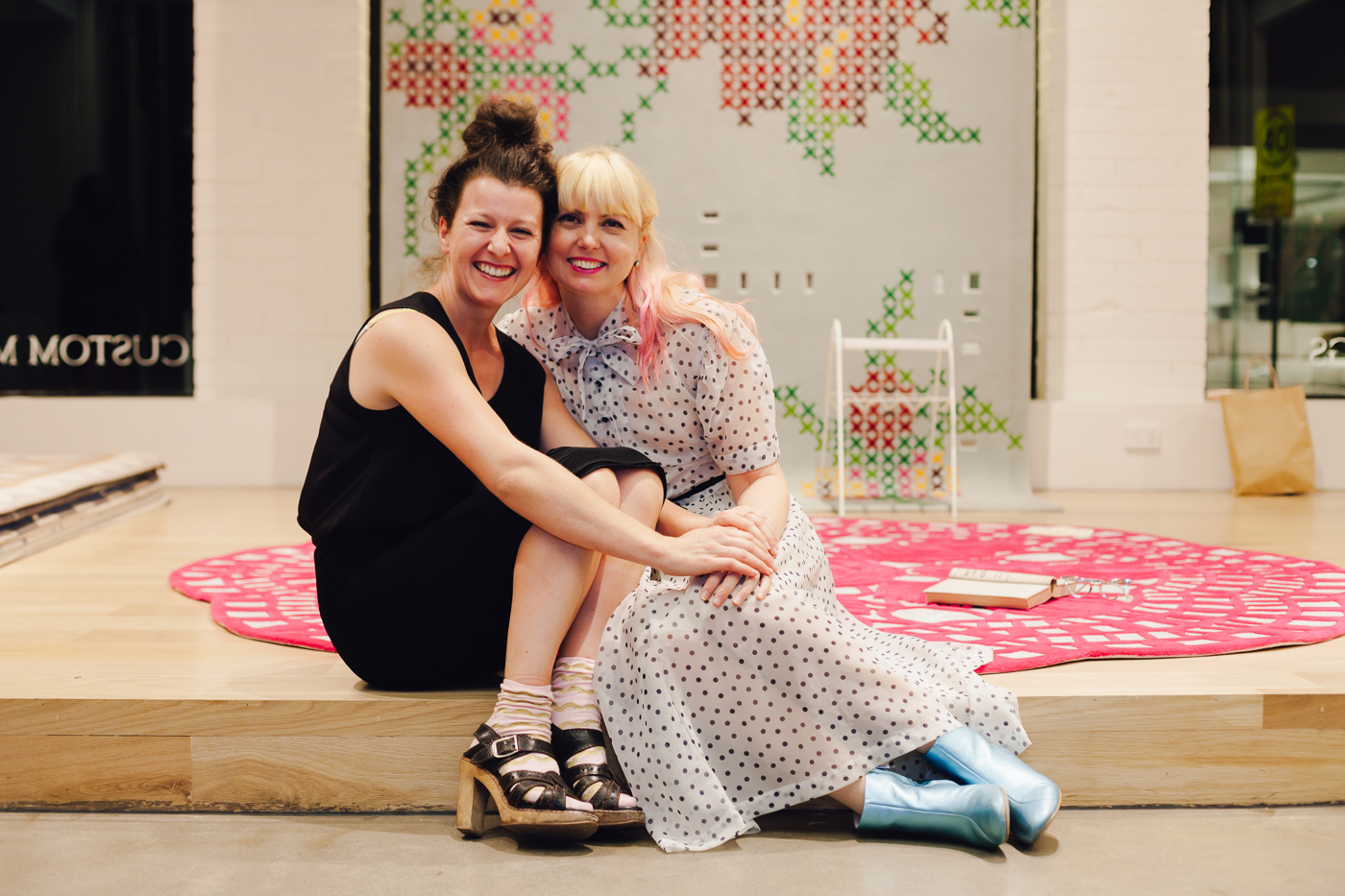 With Cassie Lucas of Firecracker Event | NEW AGAIN by Petrina Turner Design for Designer Rugs | The launch event