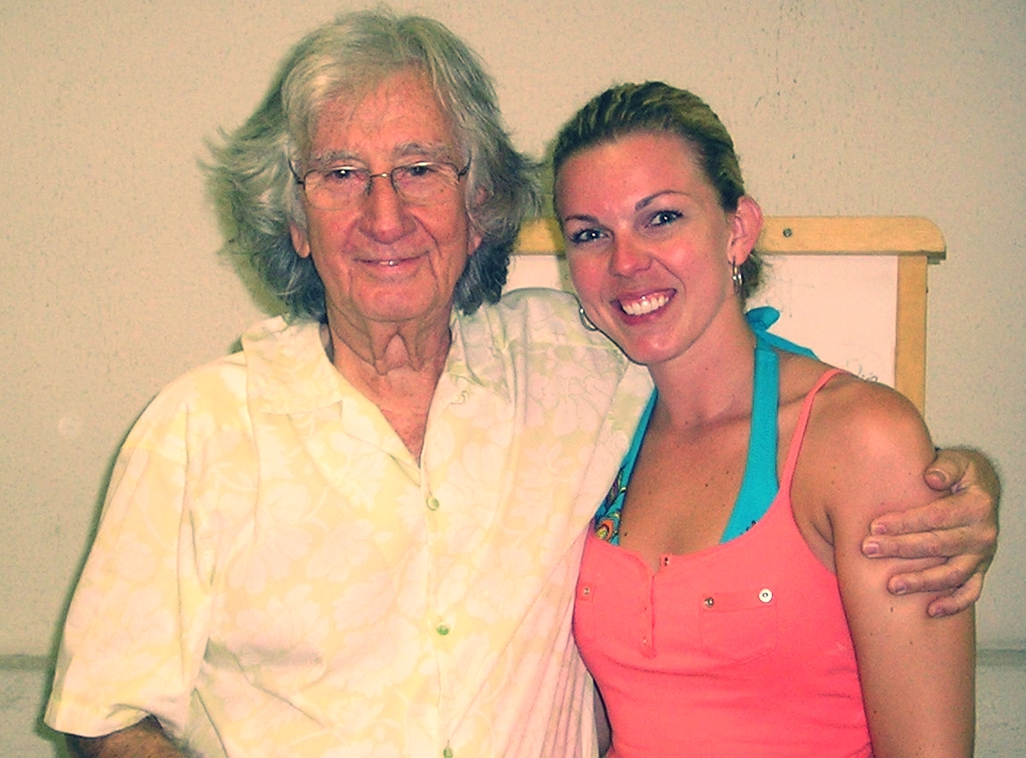 Alexis with Augusto Boal, founder of the The Theatre of the Oppressed in Brazil, 2008.