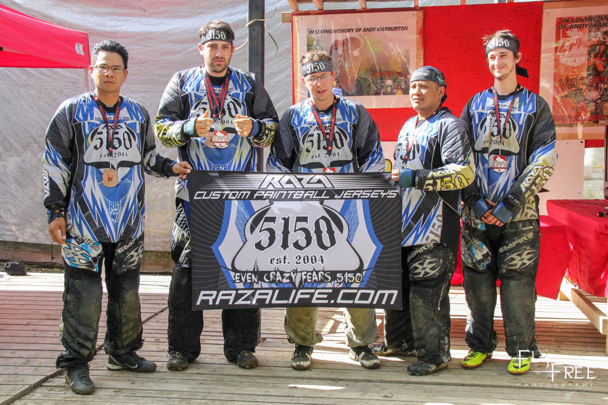 3rd Place D3 5Man -  5150 (@5150_paintball)