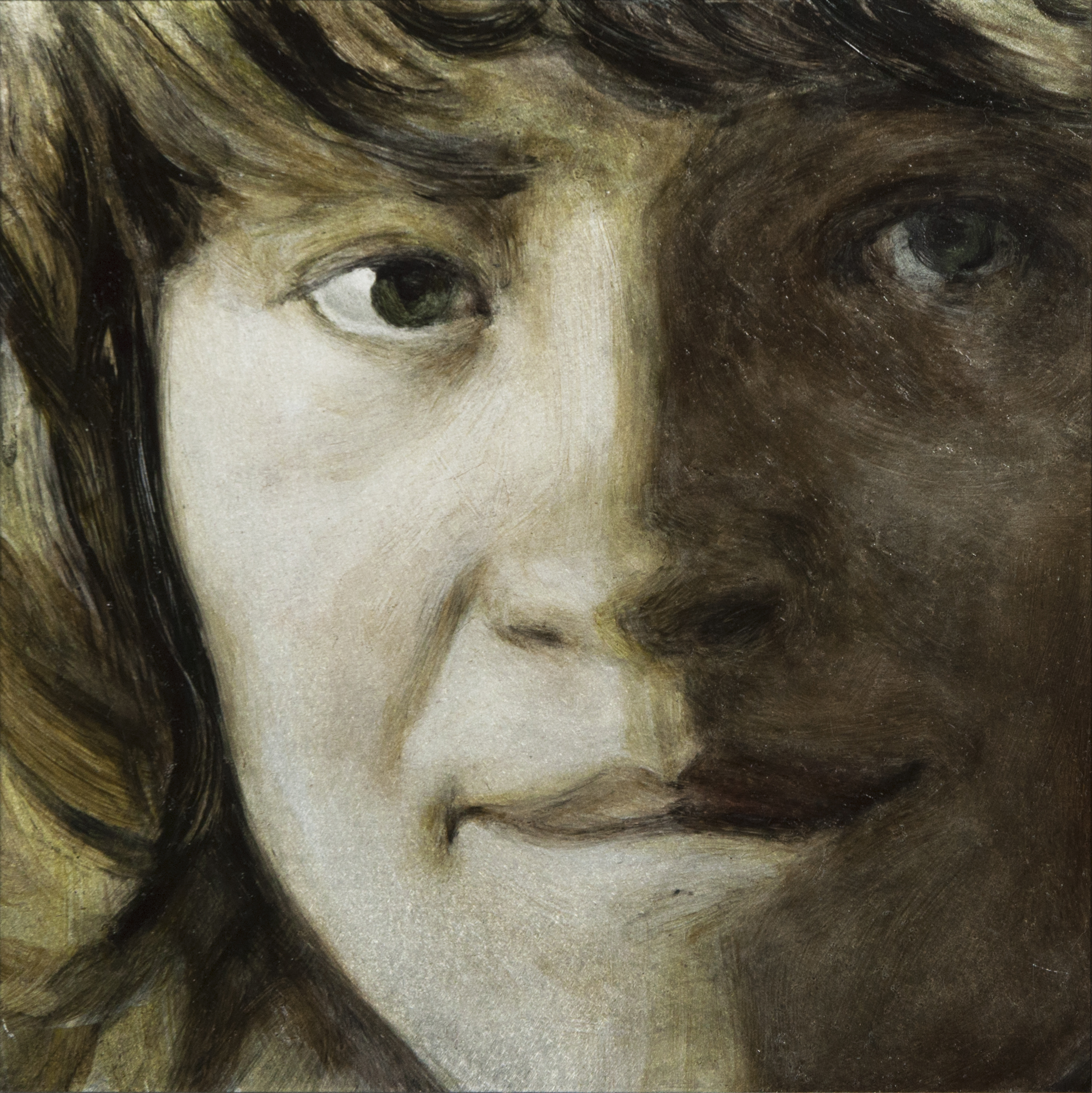 The Gaze of Could-Be-Love,Detail No. 11 ,2013,oil on aluminum Dibond, 7 x 7 inches