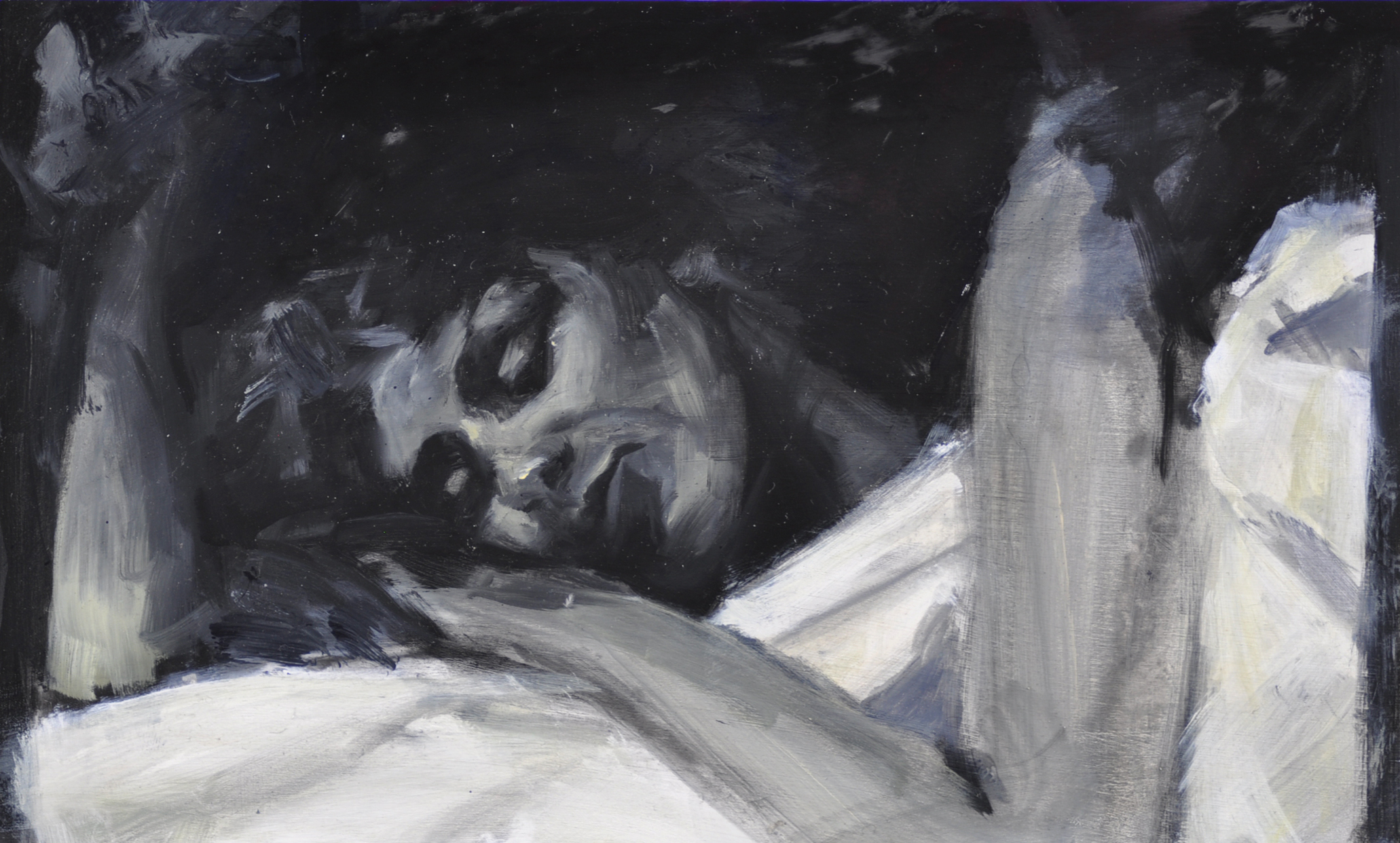 Out of Dreams No. 1 , 2012, oil on wood panel, 12 x 21 inches