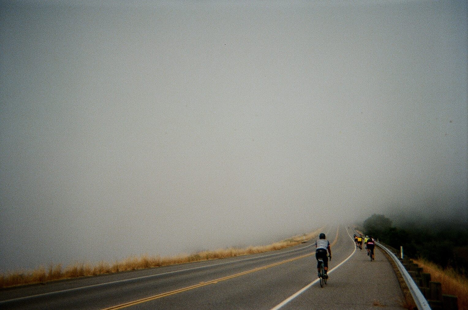 Somewhere in the foggy rolling hills of the Northern California coast