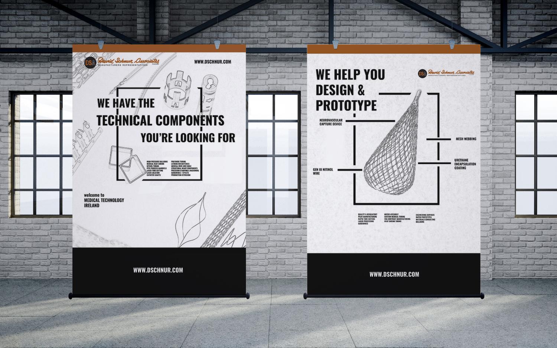 Banner Designs for David Schnur Associates industrytrade shows.