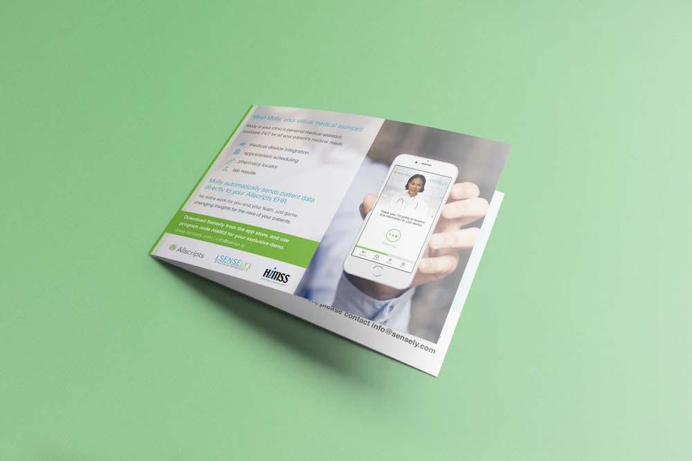 Brochure design for Sensely