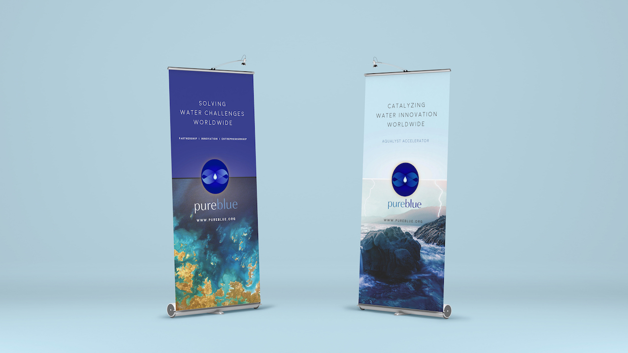 Banner design for PureBlue's Aqualyst Accelerator launch