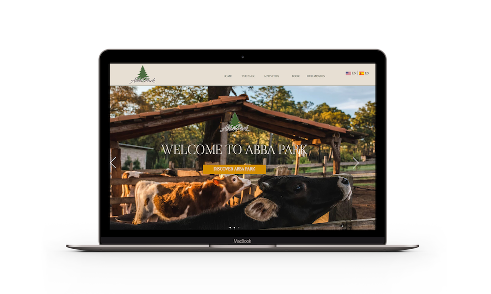Abba Park Homepage Design