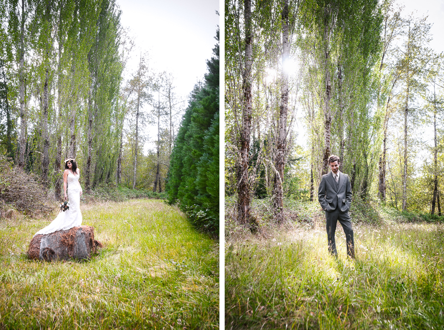 Bridal and groom stylized portraits