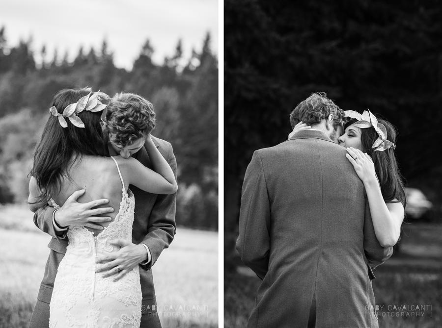 stylized wedding portrait - the hug