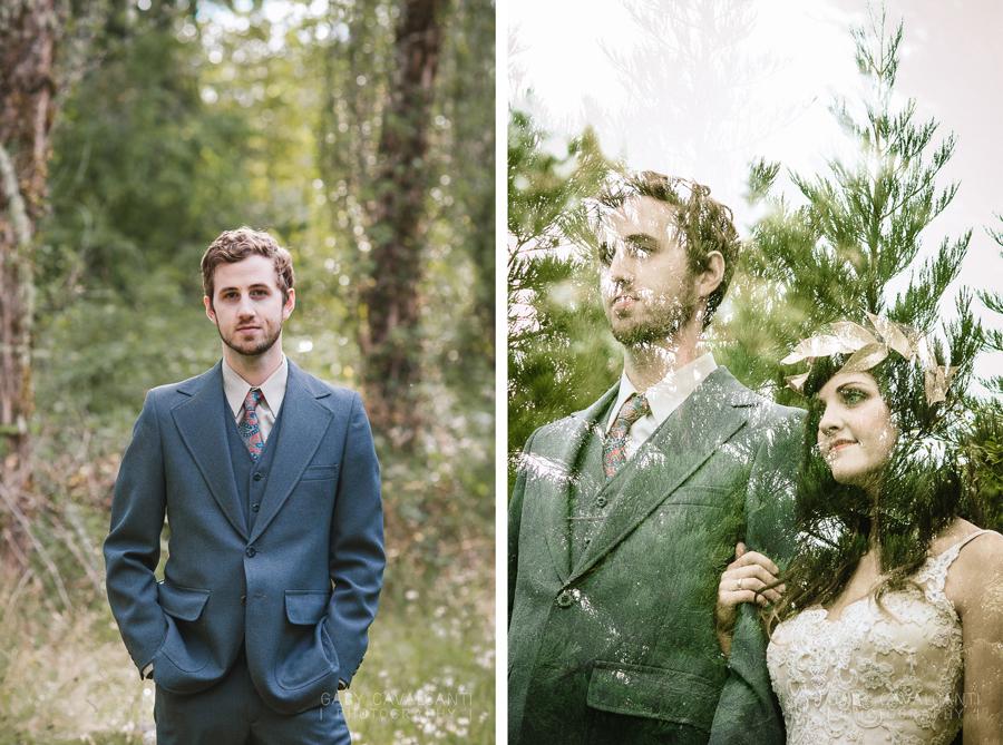 double exposure couple portrait
