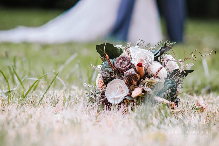 bridal bouquet stylized portrait