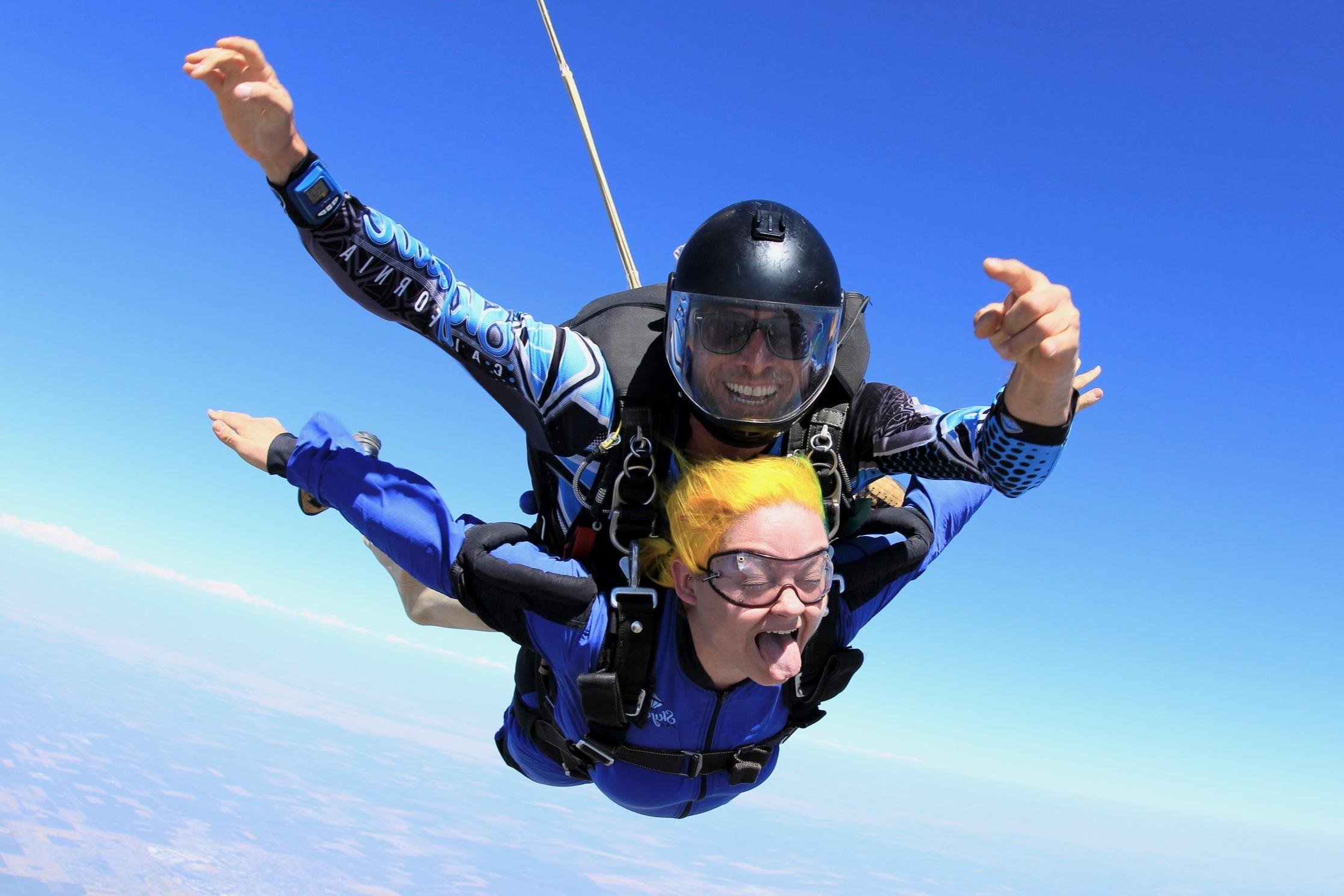 Flying for my 30th birthday at  Skydive California .