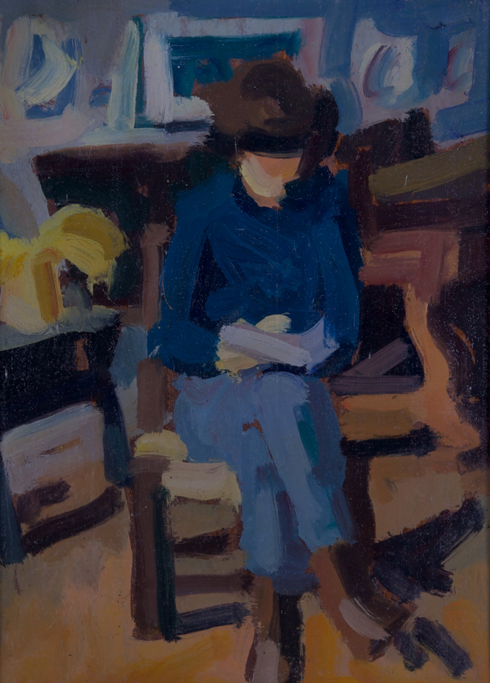 Helene che sta leggendo