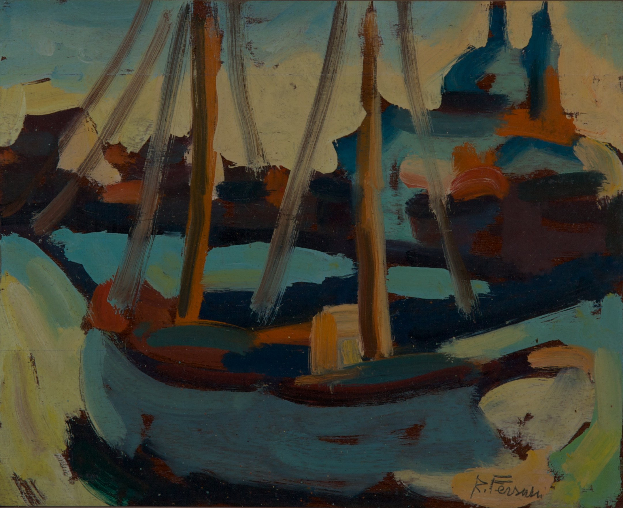 Barca al tramonto e Redentore