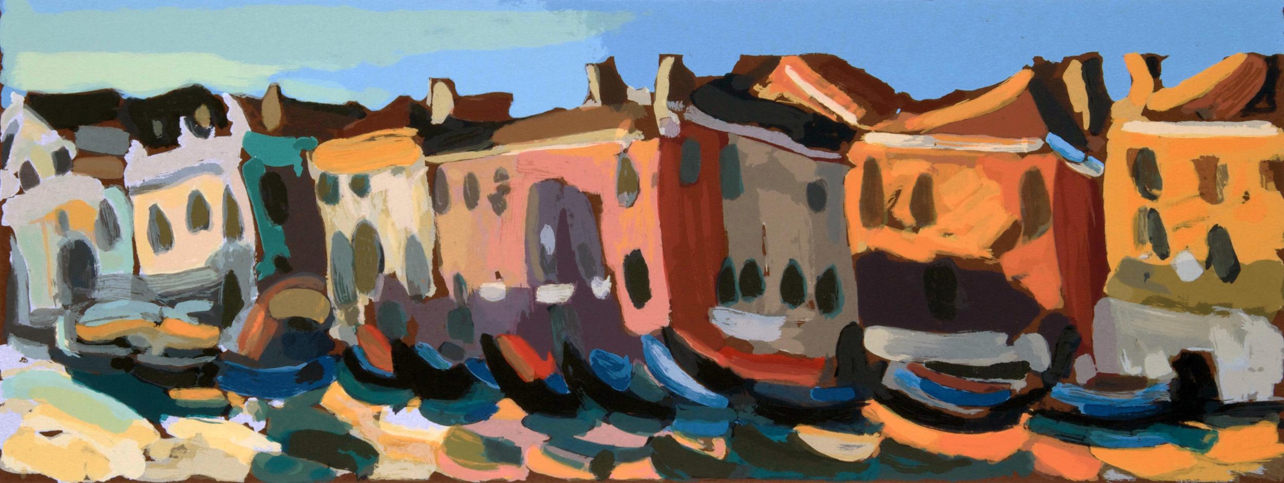Traghetto Santa Sofia  , 75 x 35 cm.  Write to  info@robertoferruzzi.com   for a quotation.