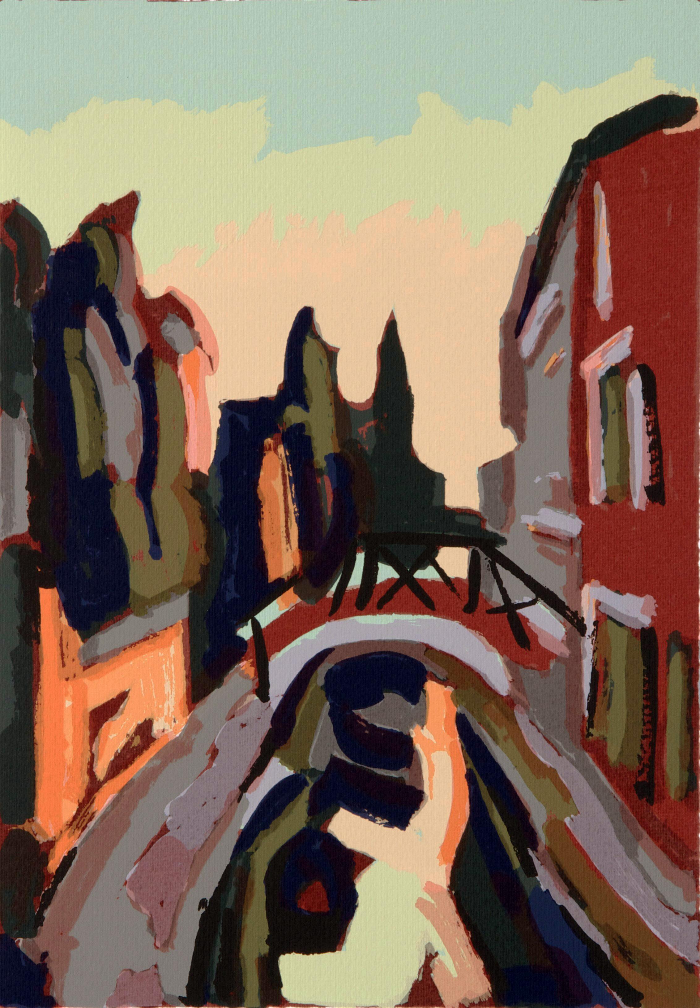 Rio di Sant'Eufemia  , 50x 35 cm.   Write to   info@robertoferruzzi.com   for a quotation.