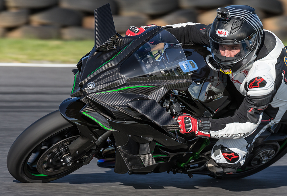 Youngy on the Kawasaki H2R