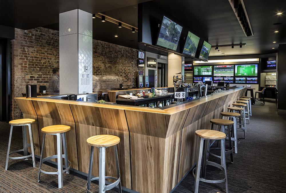 The modern hi-tech sports bar
