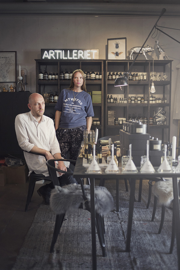Sofie and Christian, owners of Artilleriet. For Residence Magazine