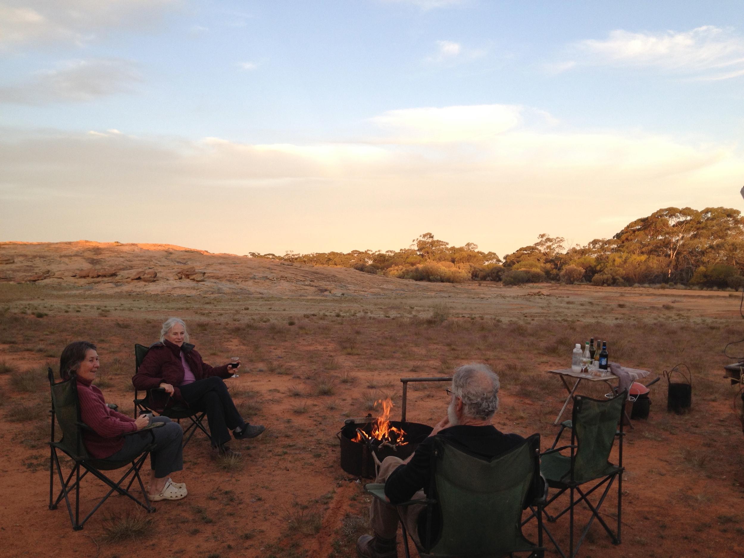 wild campfire at sunset.jpg