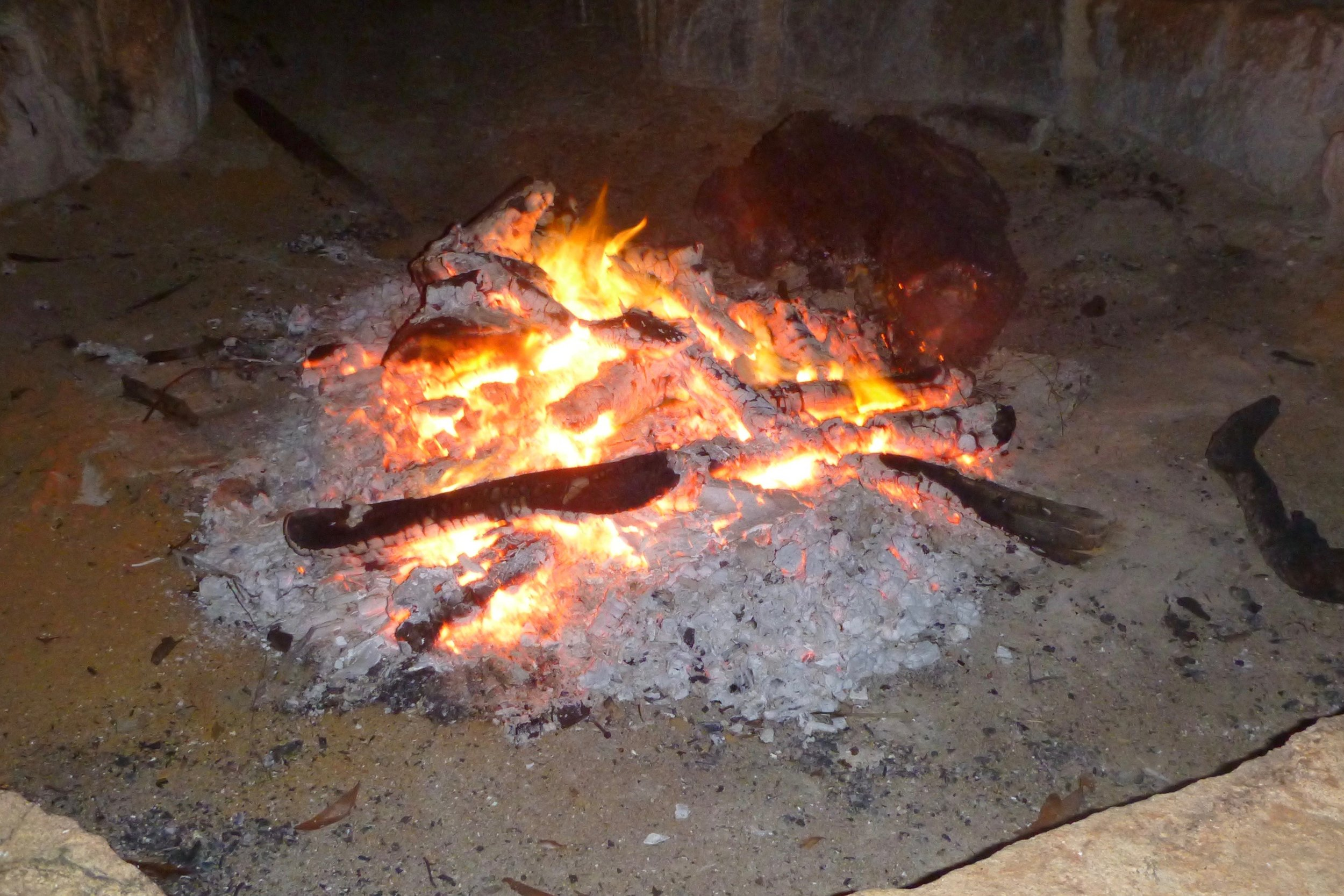 Fireside: the place of comtemplation and morning and evening prayer.