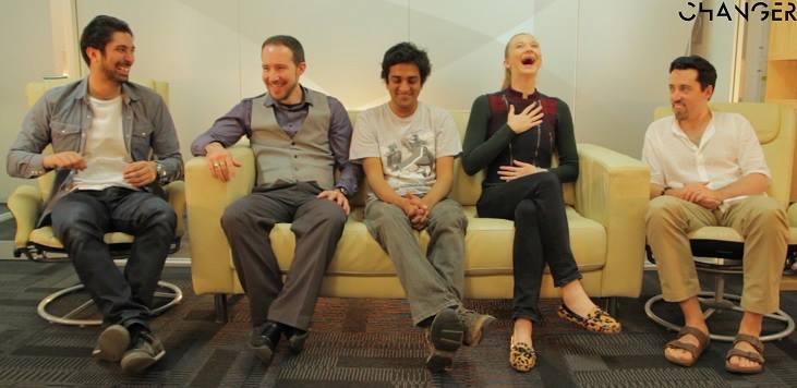Ashwin centre with his comedy collaborators Changer Studio