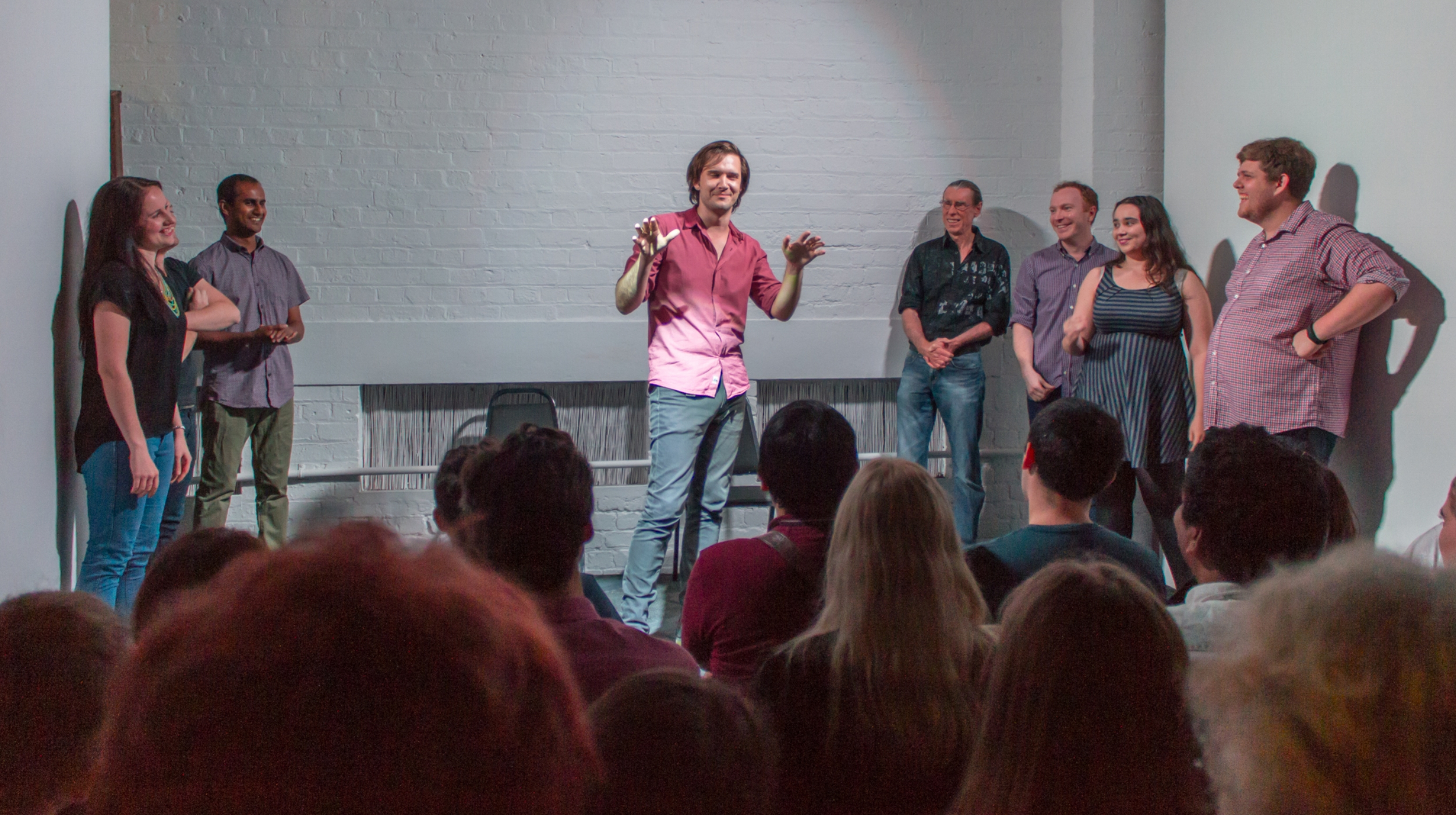 Finding the Funny    Learn how to take true stories and spin them into hilarious improvised scenes on the spot. You will explore game of the scene and premise based improvisation as used in Big Fork's flag ship show Cool Story Bro.