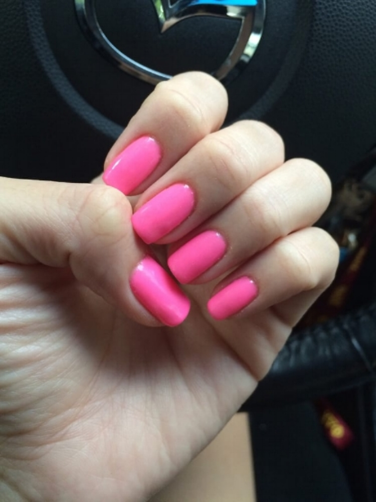Pink Nails - Shellac is half gel, half polish product by Creative Nail Design (CND) that is a staple of any nail addict. From Bubble Bath, to Hotter Than You Pink, you can't really go wrong with your favorite pink shade.