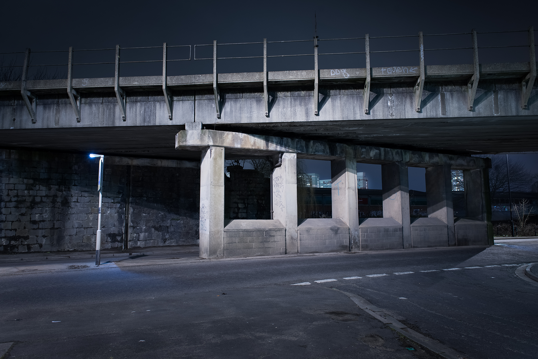 'Train over Feeder Road' - 2016