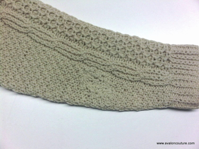 Left sleeve finished