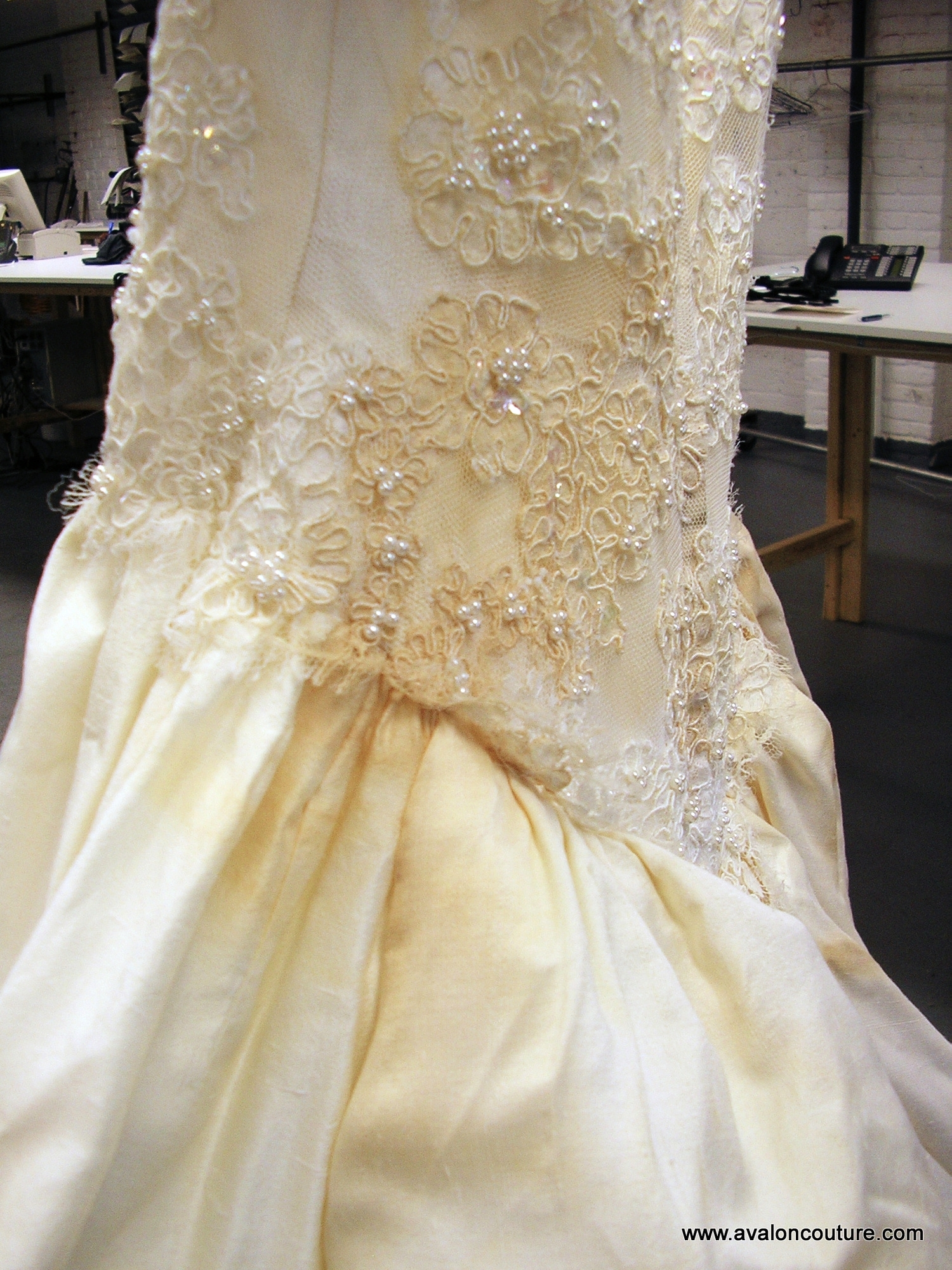 """Wedding Gown Bustle """"Before"""""""