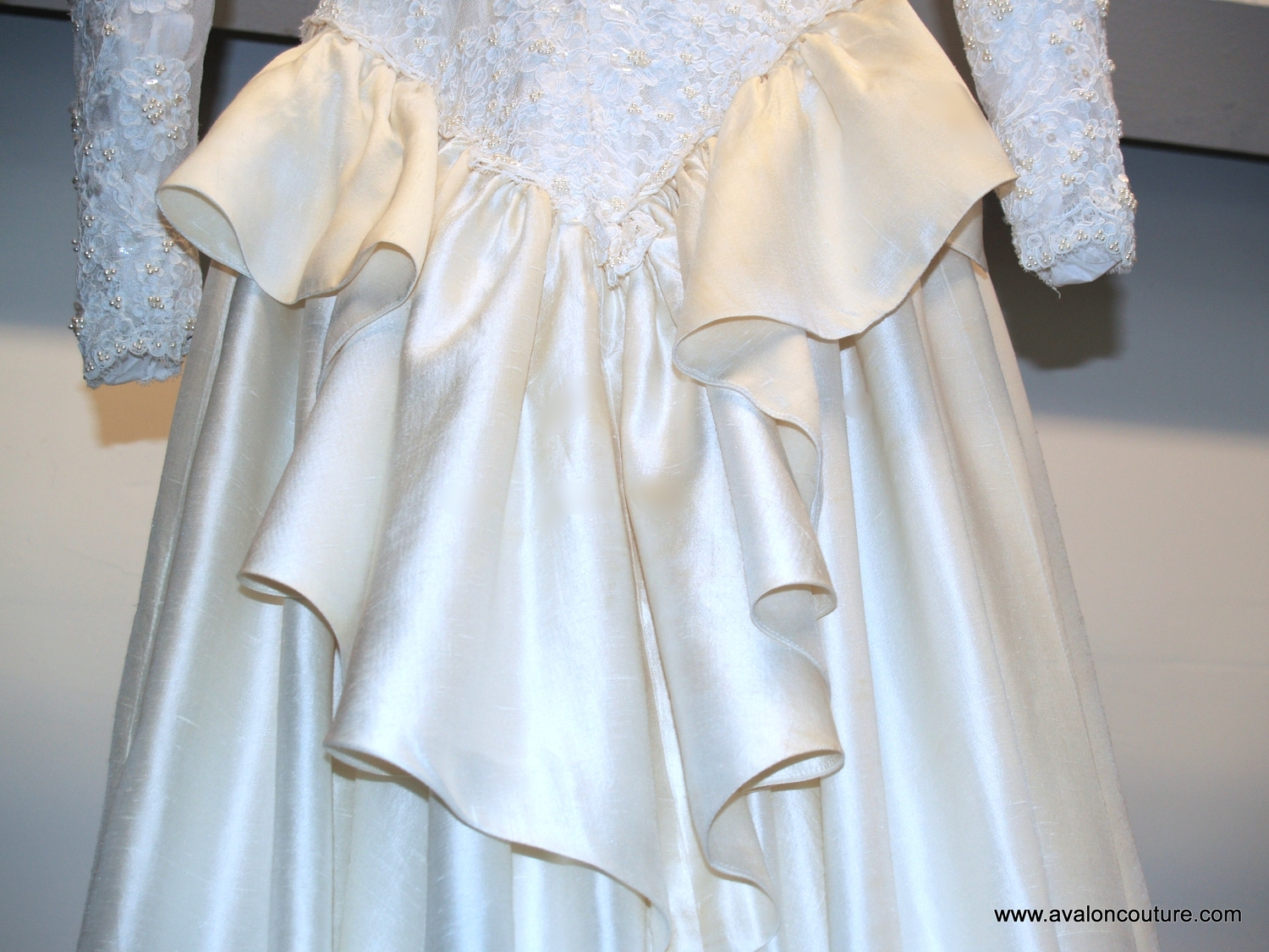 """Wedding Gown Bustle """"After"""""""