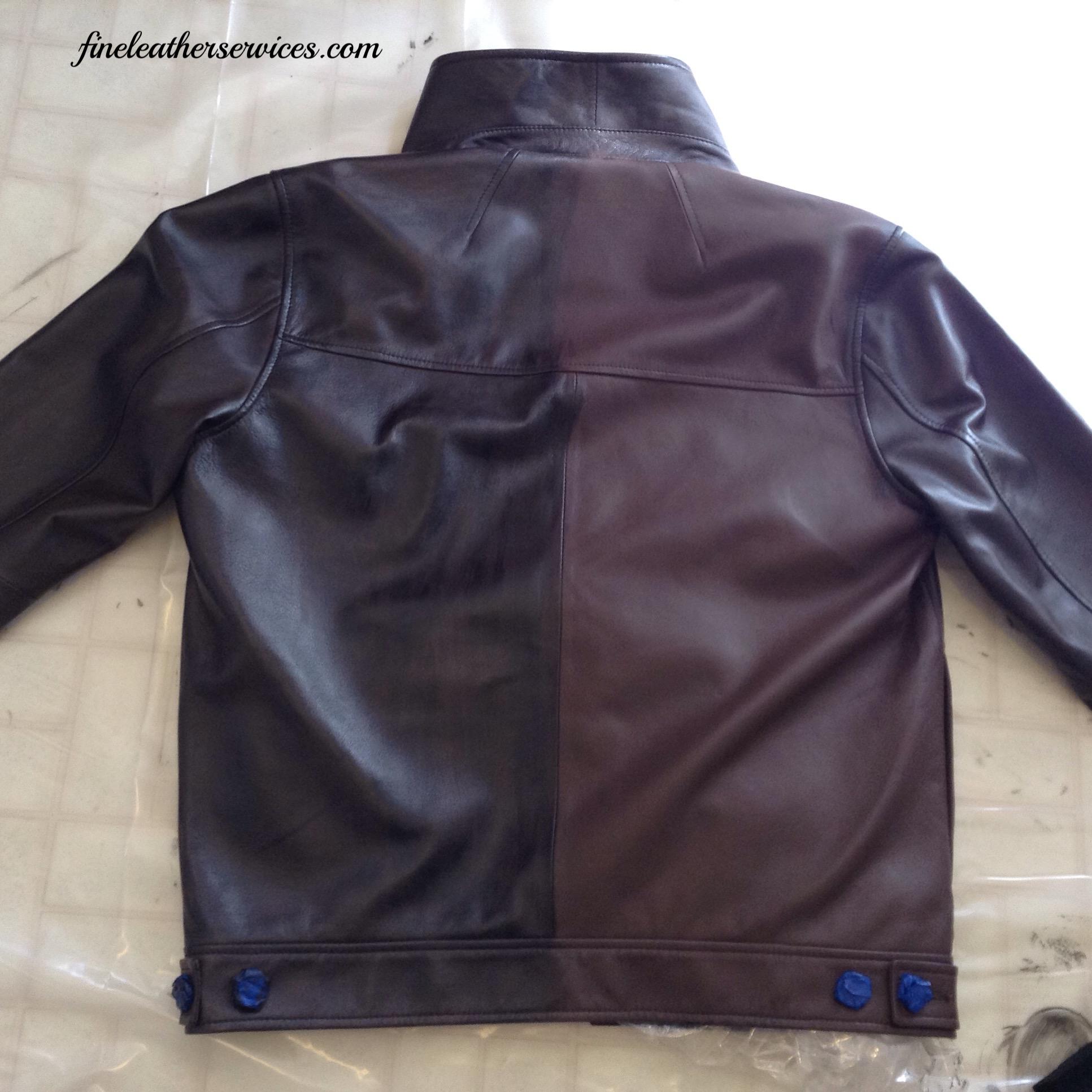 "Color change for a showroom ""concept"" jacket."