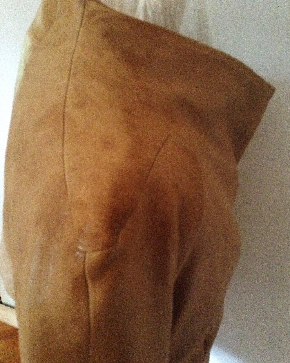 veste en cuir marron