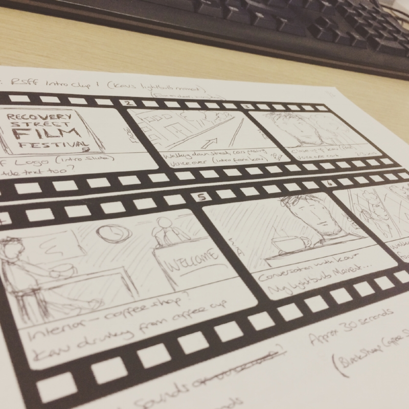 A storyboard can be simple and easy