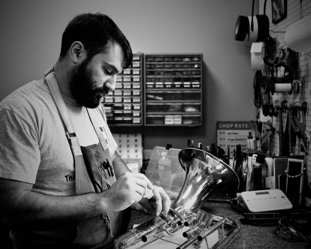David Zoni, brass repair specialist