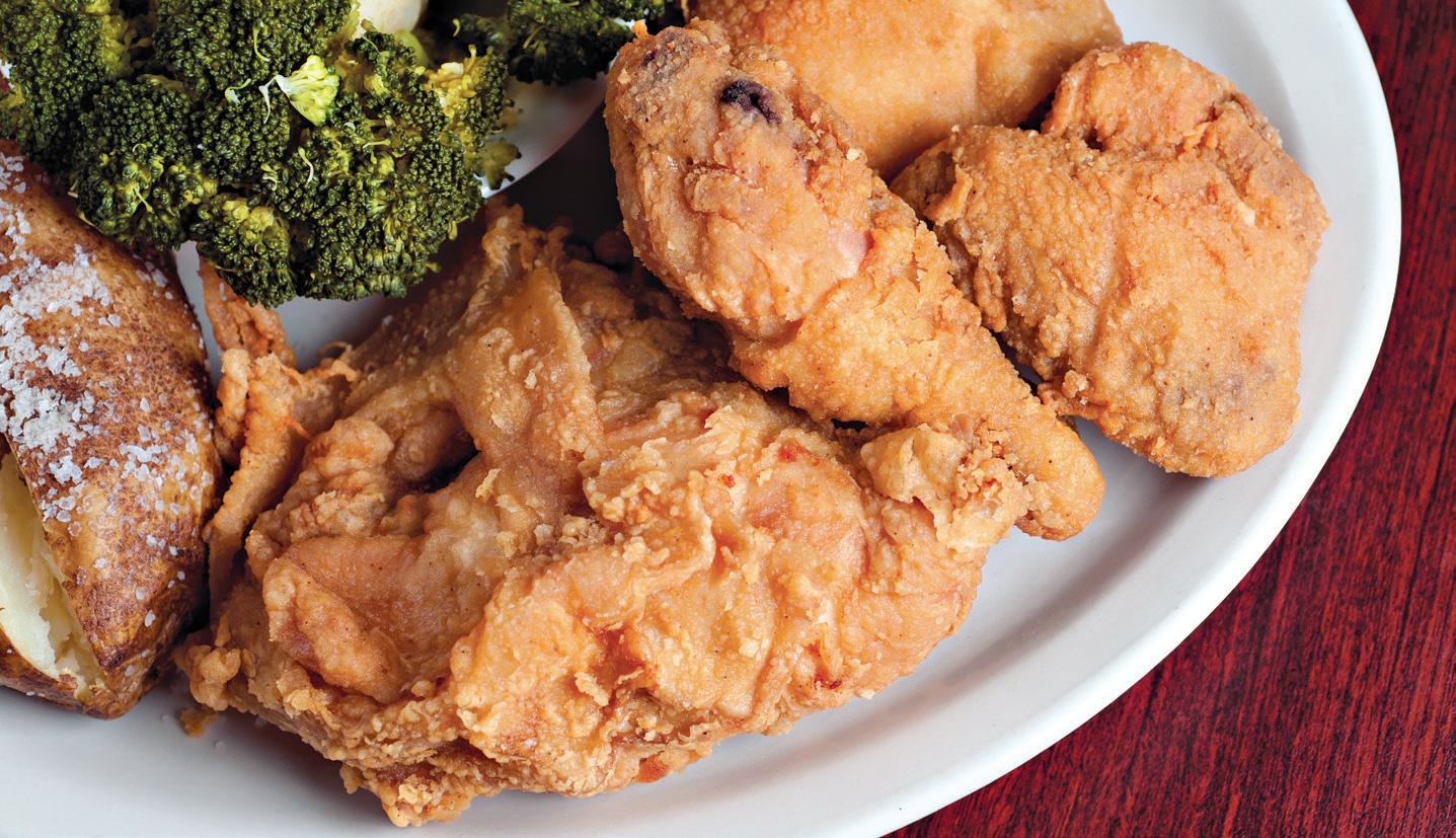 After a day on the water, enjoy a meal at Cookie's, where the specialties include fried chicken.
