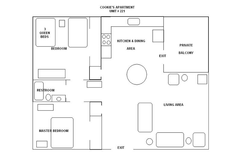 Bull Shoals Lake rental accommodations_floor plan