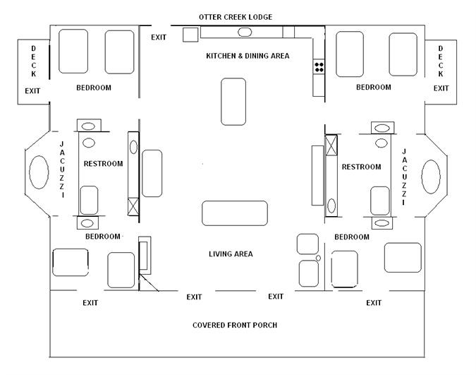 Missouri family vacation_Otter Creek Lodge_floor plan