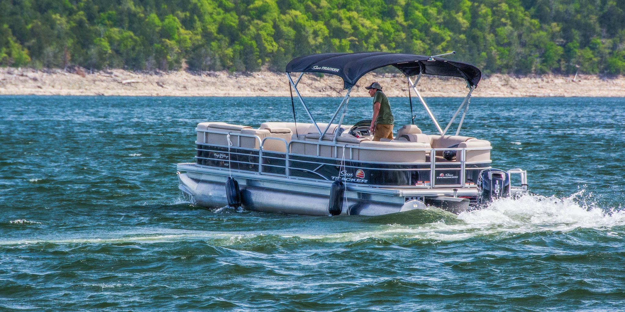 Theodosia rental boat 24 ft pontoon