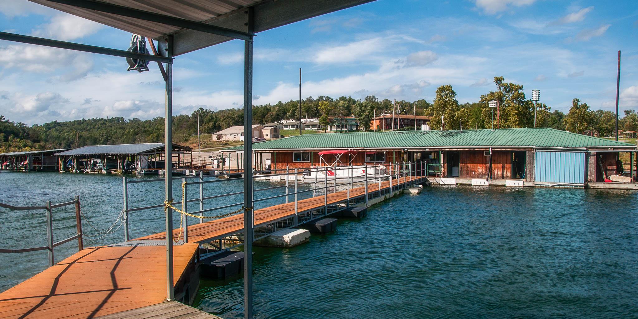 Theodosia Marina-Resort bait and tackle shop for a fishing vacation on Bull Shoals Lake
