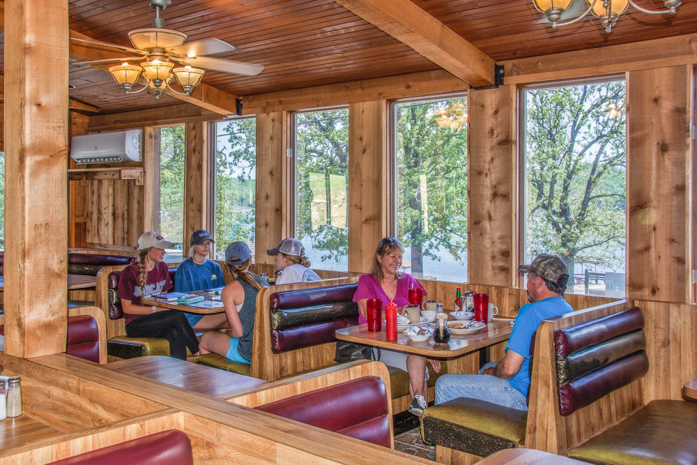 Enjoy country cooking at Cookie's Restaurant at Theodosia Marina-Resort on Bull Shoals Lake.