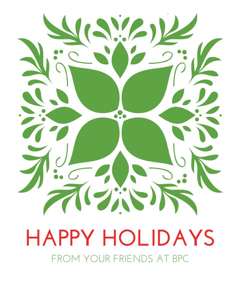 happy holidays from bpc