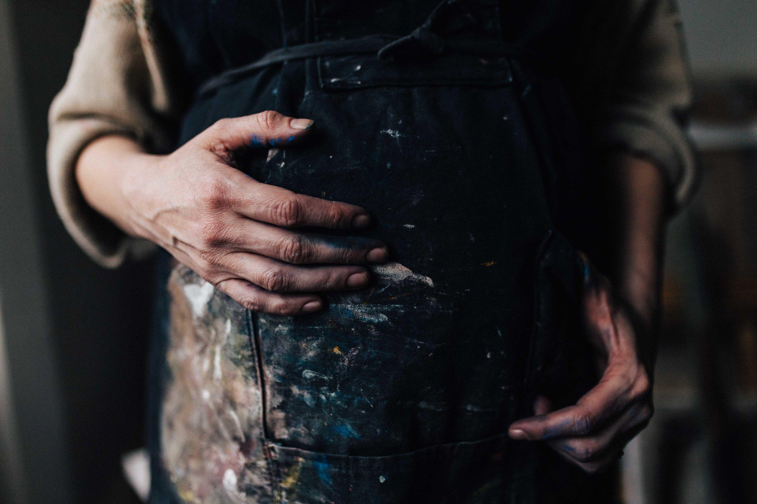 Details of visual artist Hester Finch - Branding photography