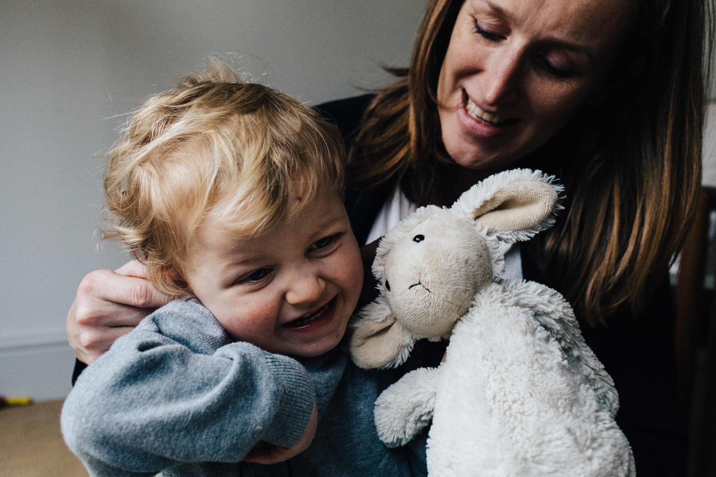 London family photographer - Portrait of mother and son during family session