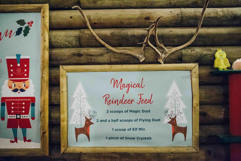 Magical reindeer dust recipe at Santa grotto